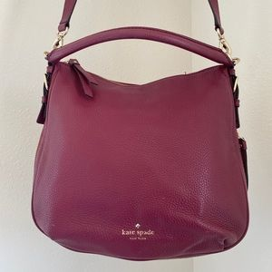 Kate Spade Red Leather Hobo Style Bag